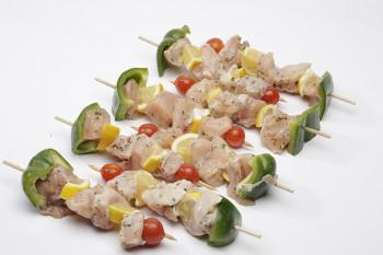 Brochettes poulet / citron x4